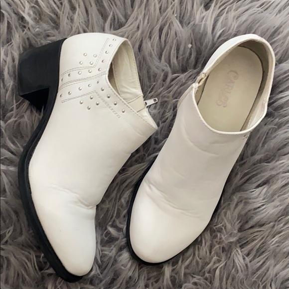Carlos Santana Shoes | White Ankle